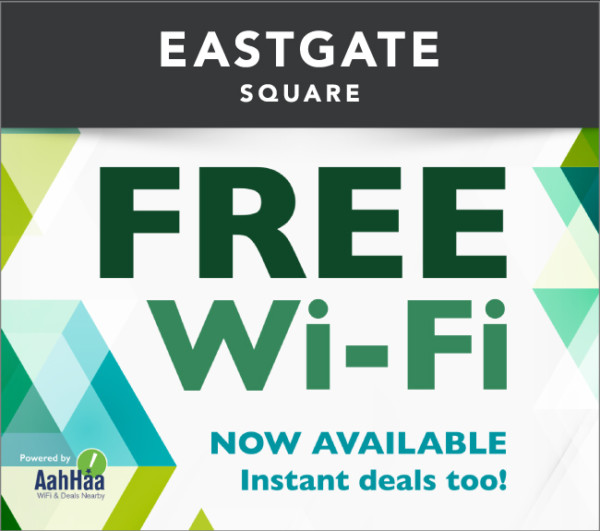 Free WiFi Now Available at East Gate