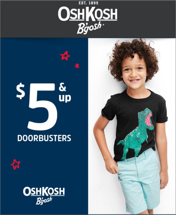 OshKosh $5 & Up Doorbusters