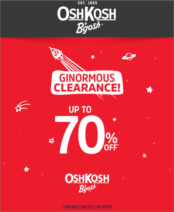 OshKosh Ginormous Clearance Up to 70% Off