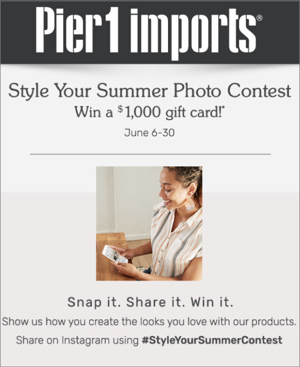 Pier 1 Style Your Summer Photo Contest