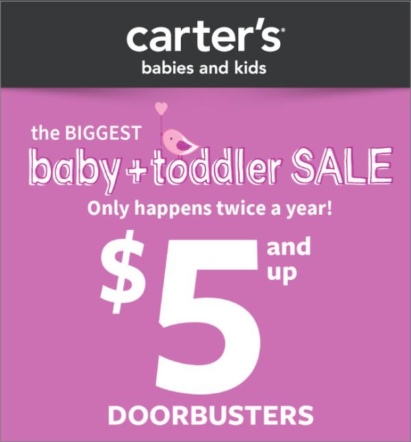 Carter's $5 and Up Baby Doorbusters